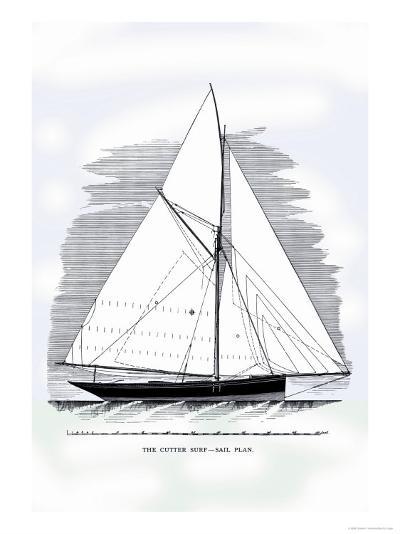 Cutter Surf-Charles P^ Kunhardt-Art Print