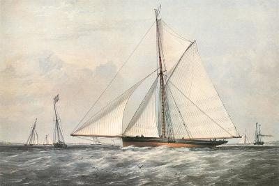 Cutter Yacht - 1830-Yvonne ARCHIVE-Art Print