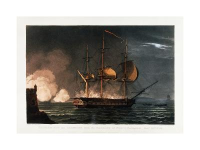 Cutting Out the Hermoine from the Harbour of Porto Cavailo-Thomas Whitcombe-Giclee Print