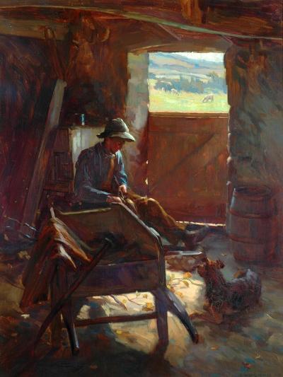 Cutting Stacks Rods, 1897-Edward George Hobley-Giclee Print