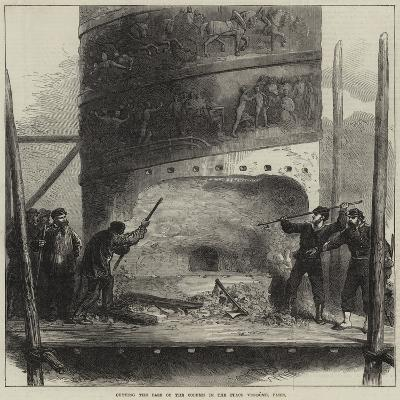 Cutting the Base of the Column in the Place Vendome, Paris--Giclee Print