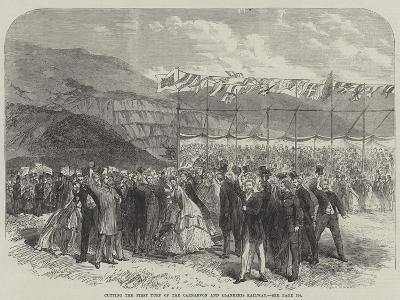 Cutting the First Turf of the Carnarvon and Llanberis Railway--Giclee Print