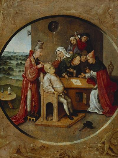 Cutting the Stone, or the Cure of Folly-Hieronymus Bosch-Giclee Print