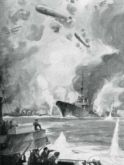 Cuxhaven Raid, 25 December 1914-Charles Fouqueray-Giclee Print