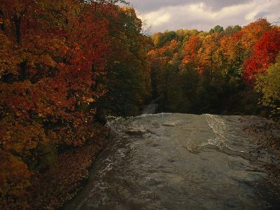 Cuyahoga River, as Seen from the Top of Brandywine Falls-Melissa Farlow-Photographic Print