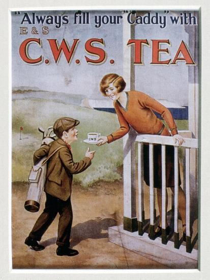 CWS Tea advertising card, 1920s-Unknown-Giclee Print