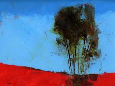 Cyan and Red-Paul Bailey-Art Print