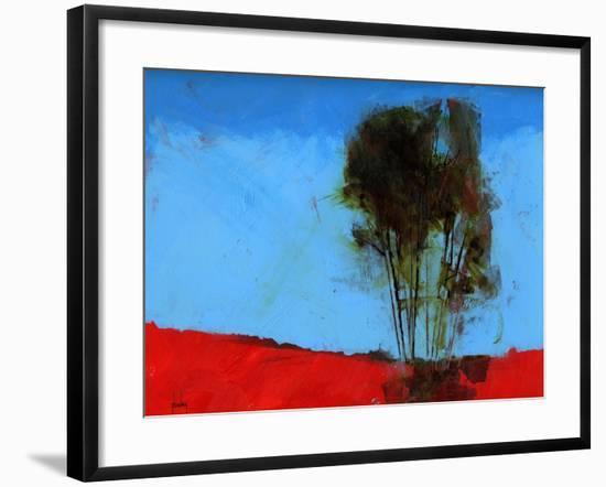 Cyan and Red-Paul Bailey-Framed Art Print
