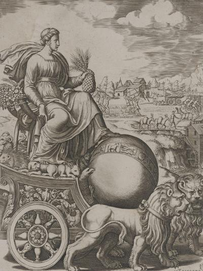 Cybèle sur son char-Bernardo II Daddi-Giclee Print