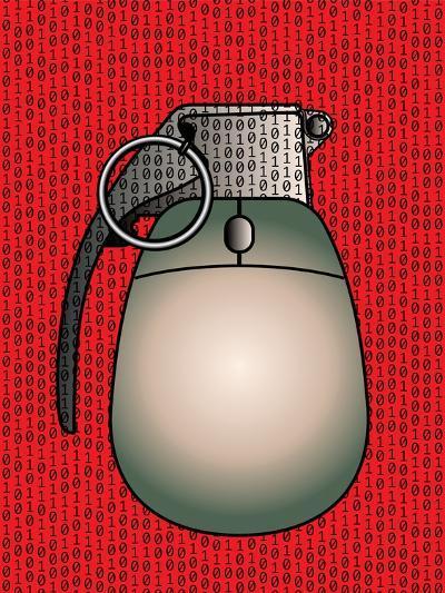 Cyber Warfare, Conceptual Artwork-Stephen Wood-Photographic Print