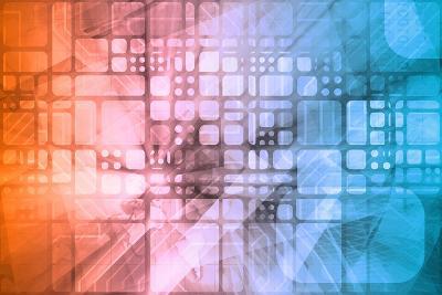 Cybernetics Mechanical Design as a Blueprints Art-kentoh-Art Print
