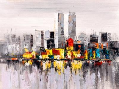 Oil Painting - City View of New York