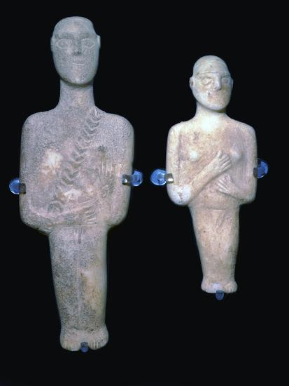 Cycladic figures, 25th century BC-Unknown-Giclee Print