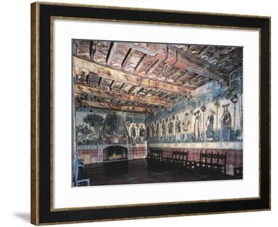 Cycle of Prodi and Heroines of Baronial Hall, Castello Della Manta, Saluzzo, Italy--Framed Giclee Print