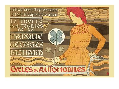 Cycles and Automobile by Marque George Richard-Alphonse Mucha-Art Print