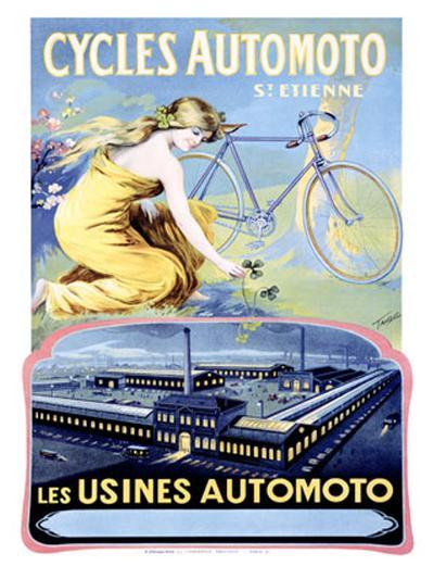 Cycles Automoto-Francisco Tamagno-Giclee Print