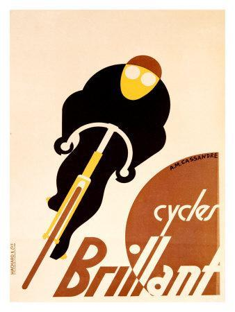 Cycles Brillant-Adolphe Mouron Cassandre-Giclee Print