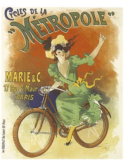 Cycles de La Metropole-Lucien Baylac-Art Print