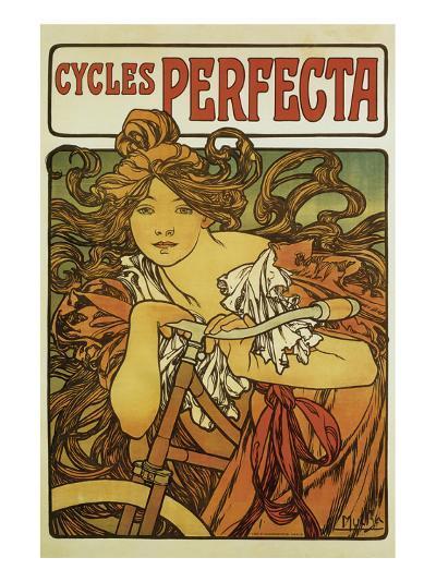 Cycles Perfecta-Alphonse Mucha-Premium Giclee Print