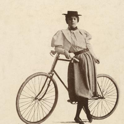 Cycling Outfit of 1890s--Photographic Print