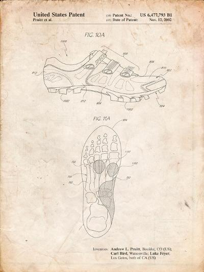 Cycling Shoes Patent-Cole Borders-Art Print