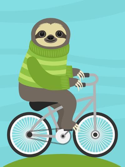Cycling Sloth-Nancy Lee-Art Print