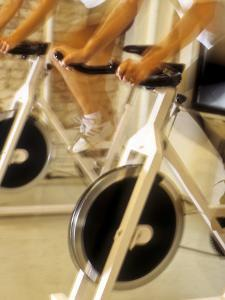 Cycling Spinning Class in Action