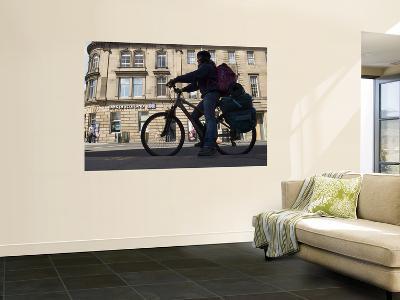 Cyclist in Central Edinburgh-Will Salter-Wall Mural