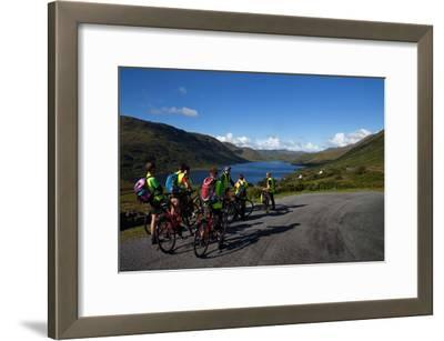 Cyclists Above Lough Nafooey, Shot from the County Mayo Side of the Border