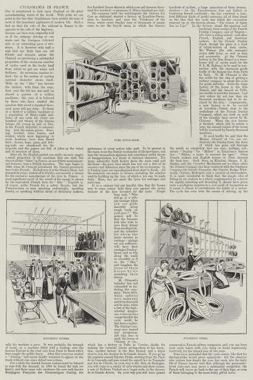 Cyclomania in France--Giclee Print