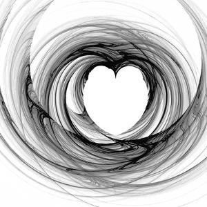 Black And White Sketch Heart by cycreation
