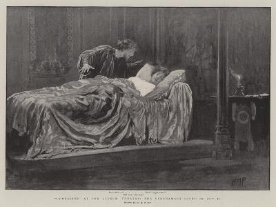 Cymbeline at the Lyceum Theatre, the Bedchamber Scene in Act II-Henry Marriott Paget-Giclee Print