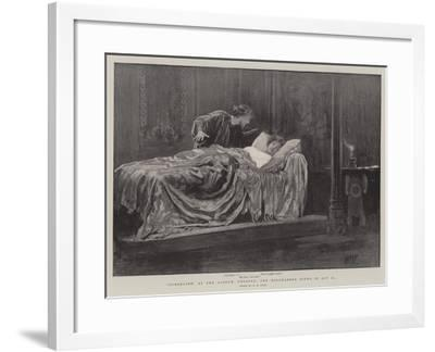 Cymbeline at the Lyceum Theatre, the Bedchamber Scene in Act II-Henry Marriott Paget-Framed Giclee Print