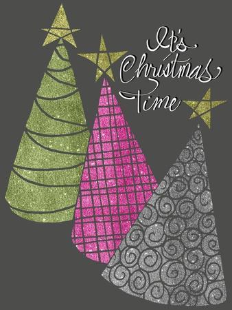Christmas Glitter Trees