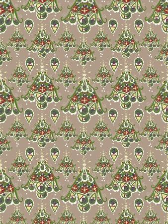 Folklore Christmas Tree Pattern