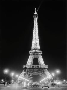 Eiffel Tower at Night by Cyndi Schick