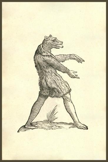 Cynocephali Effigies-Ulisse Aldrovandi-Art Print