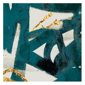Teal Flare Square B by Cynthia Alvarez