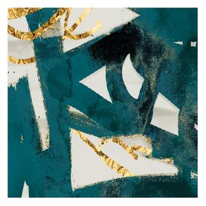 Teal Flare Square C by Cynthia Alvarez