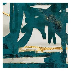 Teal Flare Square D by Cynthia Alvarez