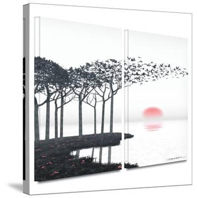 Aki 2 piece gallery-wrapped canvas by Cynthia Decker