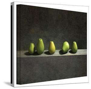 Cynthia Decker 'Five Pears' Gallery Wrapped Canvas by Cynthia Decker