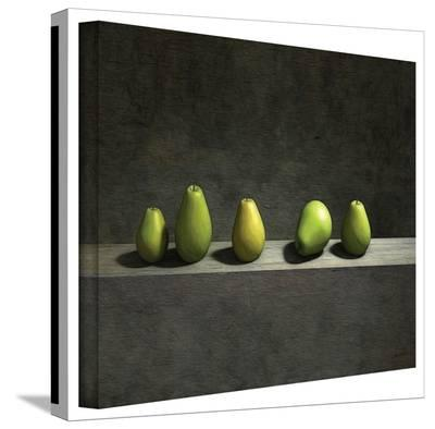 Cynthia Decker 'Five Pears' Gallery Wrapped Canvas-Cynthia Decker-Gallery Wrapped Canvas