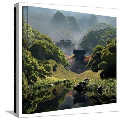 Cynthia Decker 'Temple of Perpetual Autumn' gallery-wrapped canvas-Cynthia Decker-Gallery Wrapped Canvas
