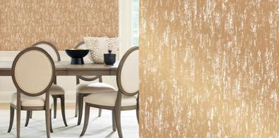 Cynthia Rowley's Gold Leaf Gold Self-Adhesive Wallpaper by Cynthia Rowley