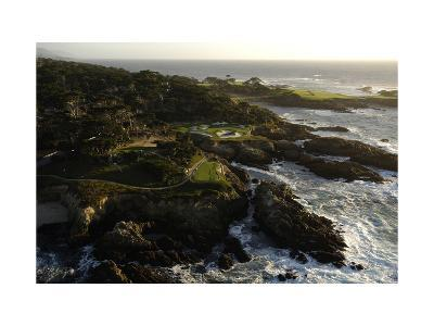 Cypress Point Golf Course, rocky coastline-J.D. Cuban-Premium Photographic Print