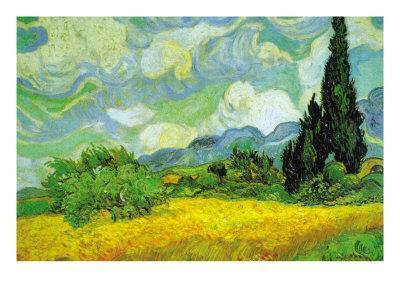 Cypresses-Vincent van Gogh-Framed Art Print