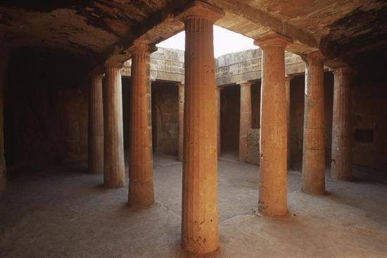 Cyprus, Paphos, Tombs of Kings, Doric Columns--Giclee Print