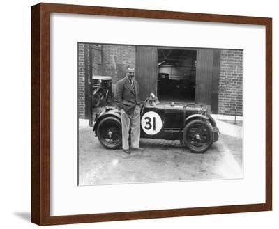 Cyril Paul with His Mg C Type, 1932