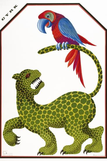 Cyrk - Leopard and Parrot-Marcus Jules-Giclee Print
